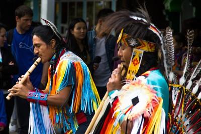 Ecuadoran Artists Performing in the city park in Kazakhstan
