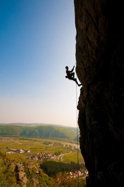 Shadow climber in Austria