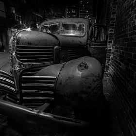 Just some old truck in the Distillery District here in Toronto, Ontario.