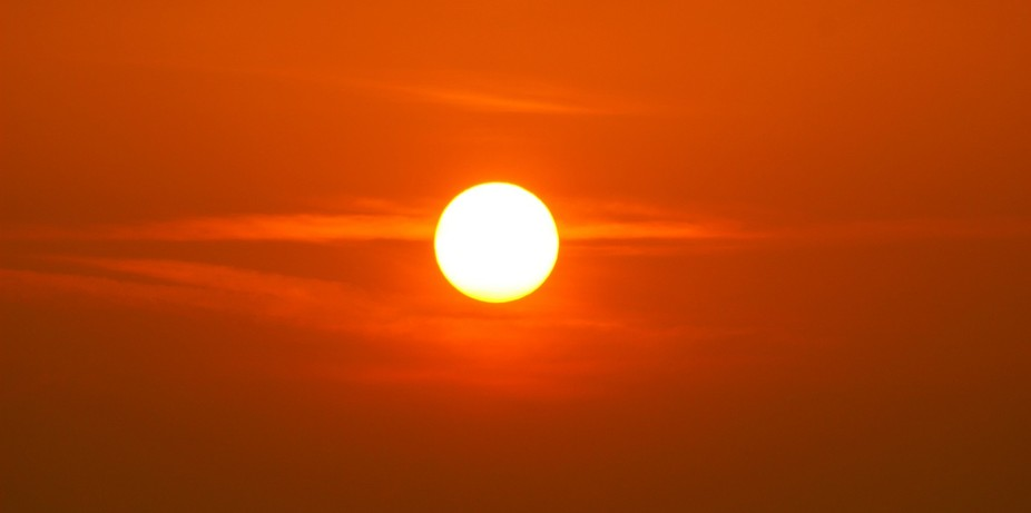 A sunset was taken near my home.