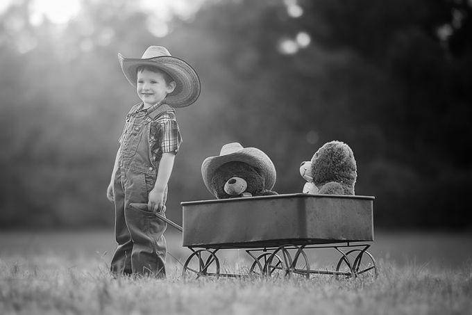 Cowboy in Black and White by Julieweiss - Hats Photo Contest