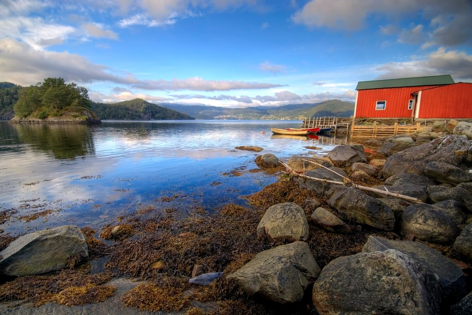 HDR image of fisherman's hut near Bergen, Norway.