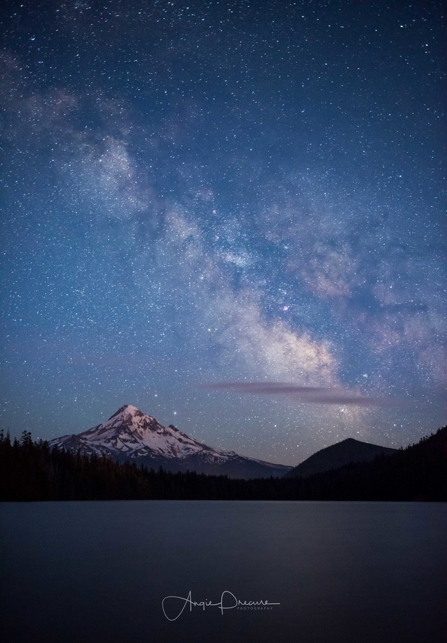 Mt. Hood Milkyway by Aflorer - Our World At Night Photo Contest