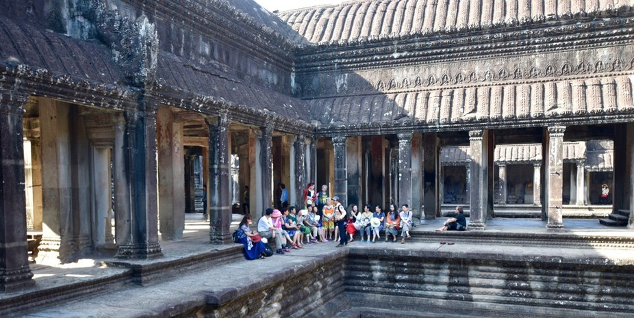 Tourism industry due to Angkor temples provides job to many people like guides, security guards, ...