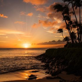 Sunsets on Maui never disappoint and always seem to sing the glories of the heavens!