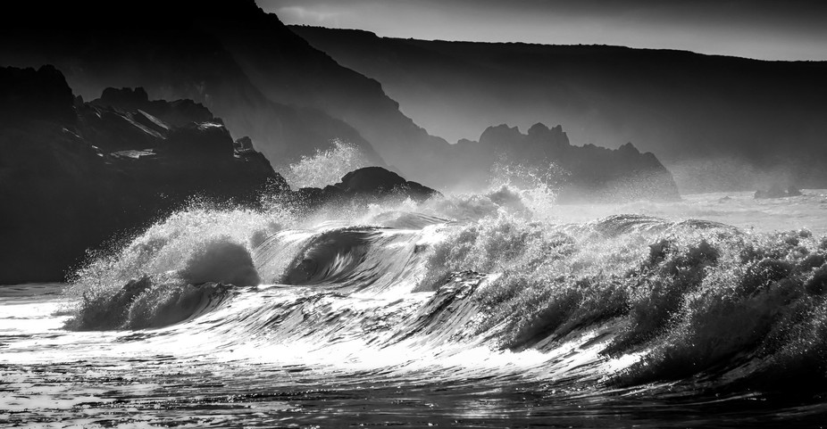 Taken in Cornwall , purposely without a polariser to get the sheerness of the water. To get the s...