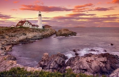 Portland Head Light - Sunset