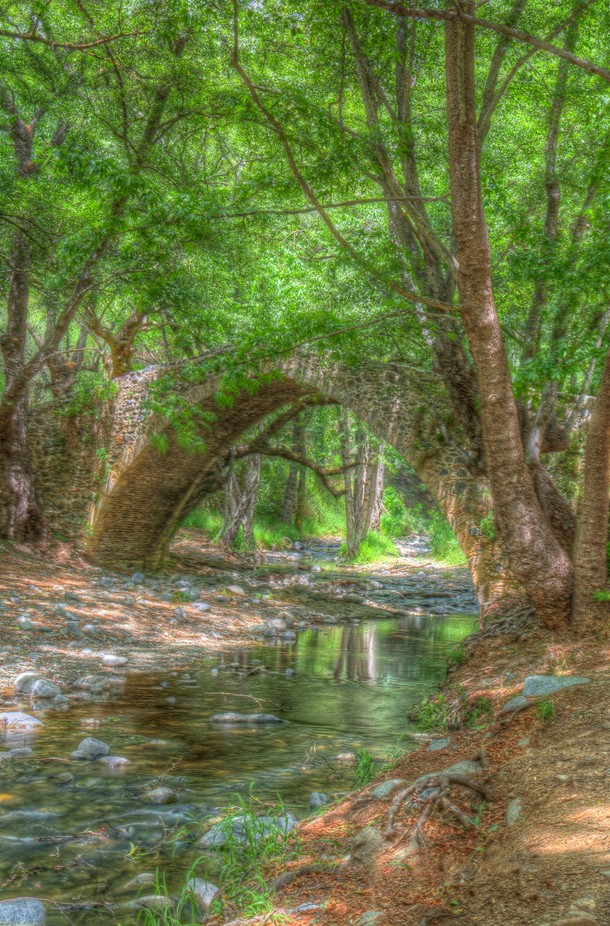 The most well know of the 3  Venetian Bridges  in the Troodos  region of Cyrprus