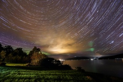 Star Trails on the banks of Loch Fyne