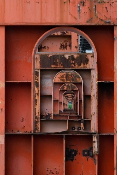 Rusted pillars