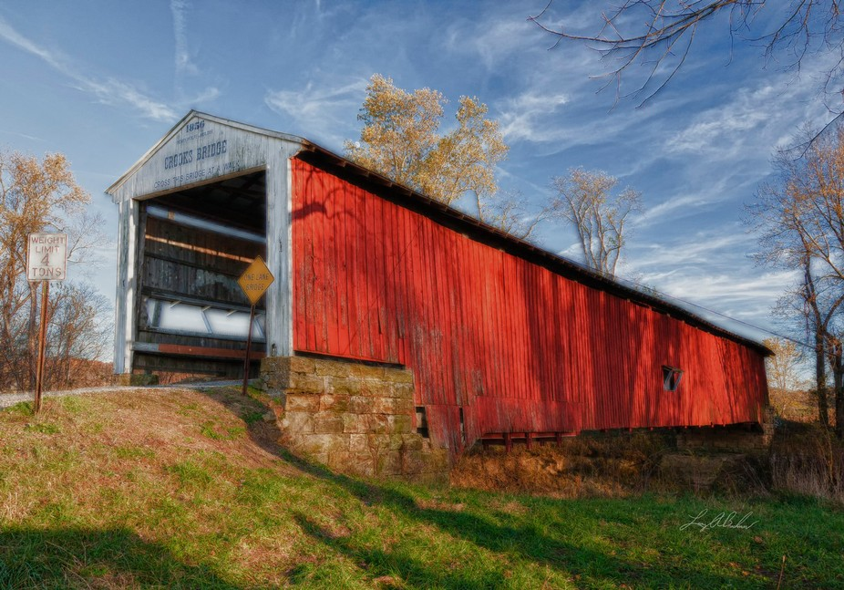 Crooks Covered Bridge is one of the 30 covered bridges located in Parke County, Indiana.  This is...
