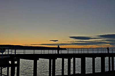 Night fishing on Whitby pier