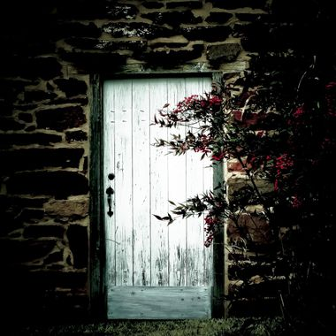 "The door seemed to glow at dusk to the old stone house in the woods. This is part of a larger Collection ""The Dark Art Collection"" which I will make an album for."