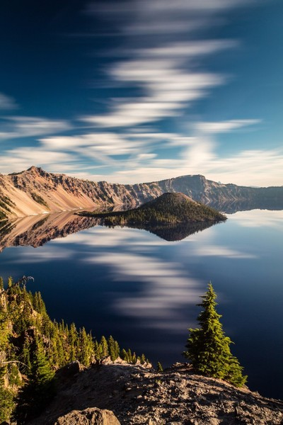 Dreamy and Surreal Crater Lake