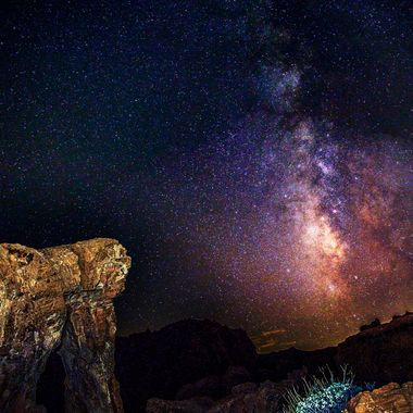 Valley of Fire State Park, Elephant Rock and the Milky way.