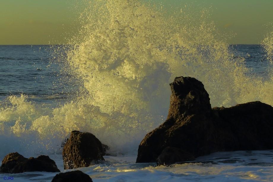 """Bubble burst. Beach of """"Reis Magos"""" Madeira Island"""