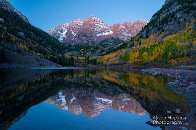 Maroon Bells By Moonlight by AlisonHopkinsPhotography - Monthly Pro Vol 27 Photo Contest