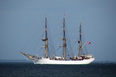 Sailors set sail on Training Ship Denmark.