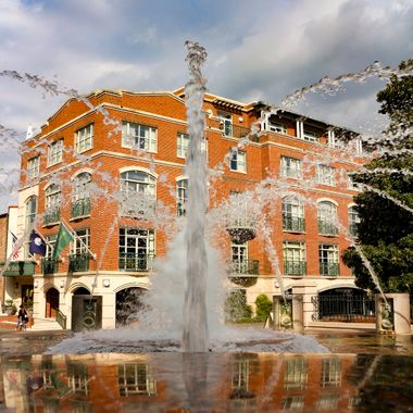 Fountain in waterfront park in Charleston, SC