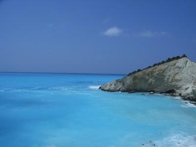 greek blue-ish sea