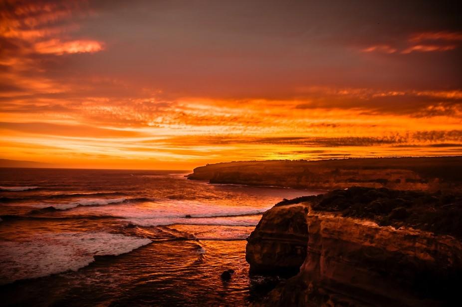 Sunset near Port Campbell, Australia