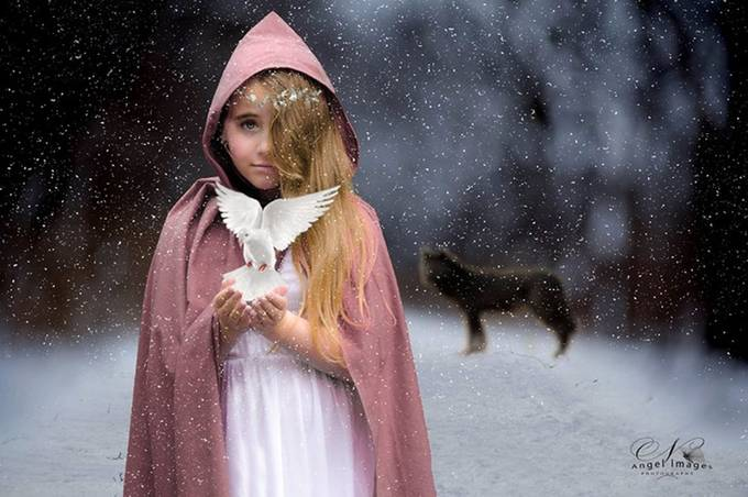 Girl with dove by Angelwheller - Kids With Props Photo Contest