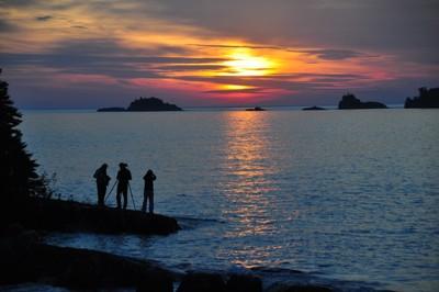 Sunrise at Rock Harbor Lodge