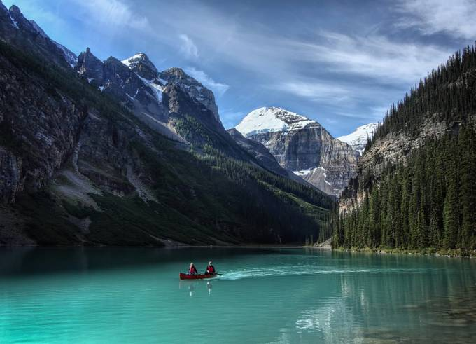 Canoe trip by AlanJ - People In Large Areas Photo Contest