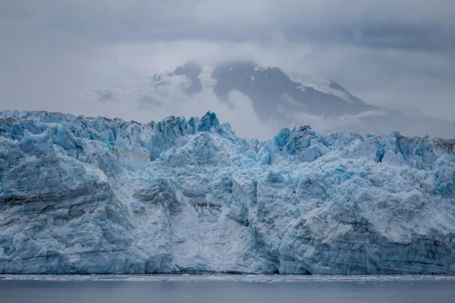 Hubbard Glacier in Yakkutat Bay, Alaska.