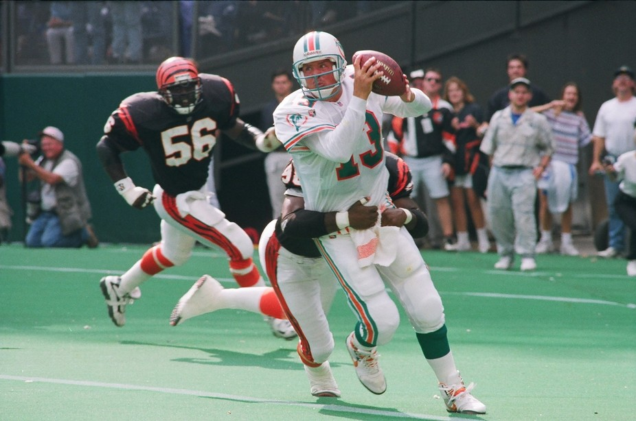 In the grasp should have been a safety, but since Dan Marino played quarterback that day he threw...