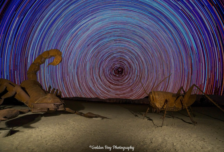 This image used to be just the foreground of the two huge sculptures representing a scorpion and ...