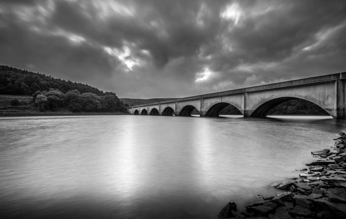 Bridge over Ladybower, UK by PaulGJohnson - Structures in Black and White Photo Contest