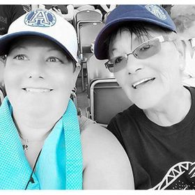 My mom and I are huge Toronto Argonauts fans and this was taken at the first game of the season.