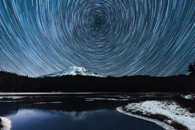 Starry Night at Reflection Lake