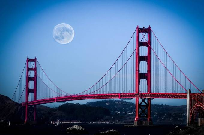 Full Moon in San Francisco by photographyfaust - I Love My City Photo Contest