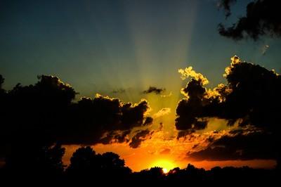Liquid Golden sunset