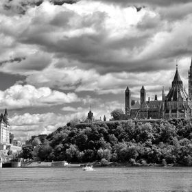 Across the Ottawa River stands two landmarks.  The Chateau Laurier and Parliment Hill