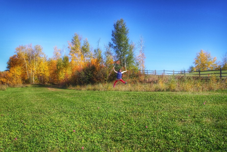 Jump in autumn