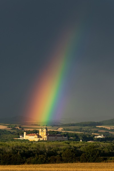 Rainbow over monastery Melk