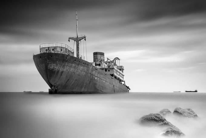 The Wreck of the Telamon by Timm15 - Monochrome Creative Compositions Photo Contest