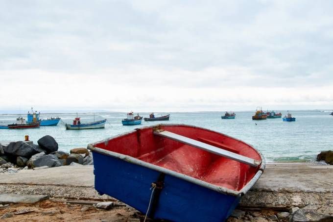 It was a cloudy day at Struisbaai, but still great to be at the little harbor.