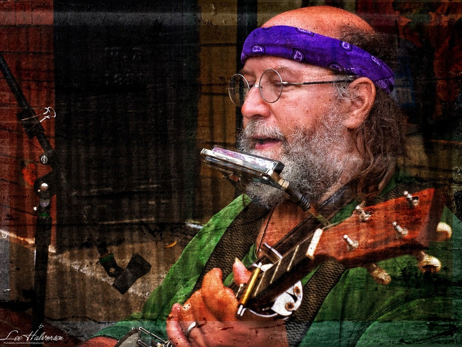 Stephen was playing the banjo and harmonica and singing on the streets of Old Town Alexandria, VA...
