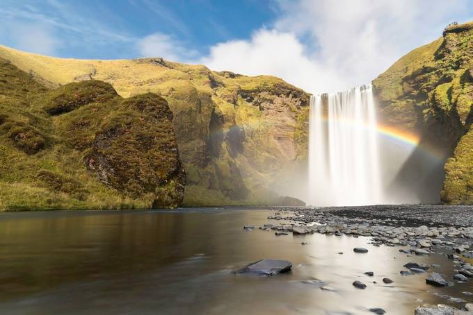 Skógafoss Rainbow by Vanexusphotography - Around the World Photo Contest By Discovery