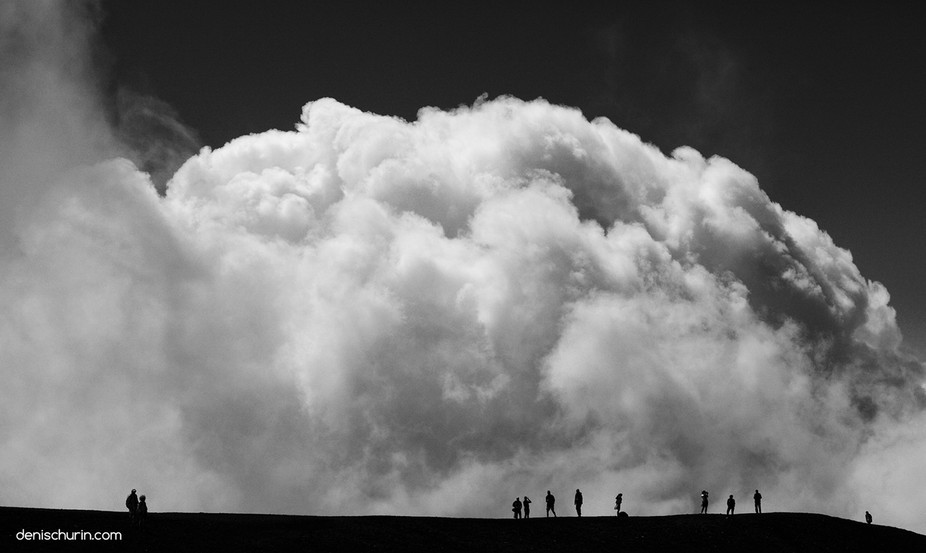 The photo was taken on one of the tops of Etna volcano in Sicily.