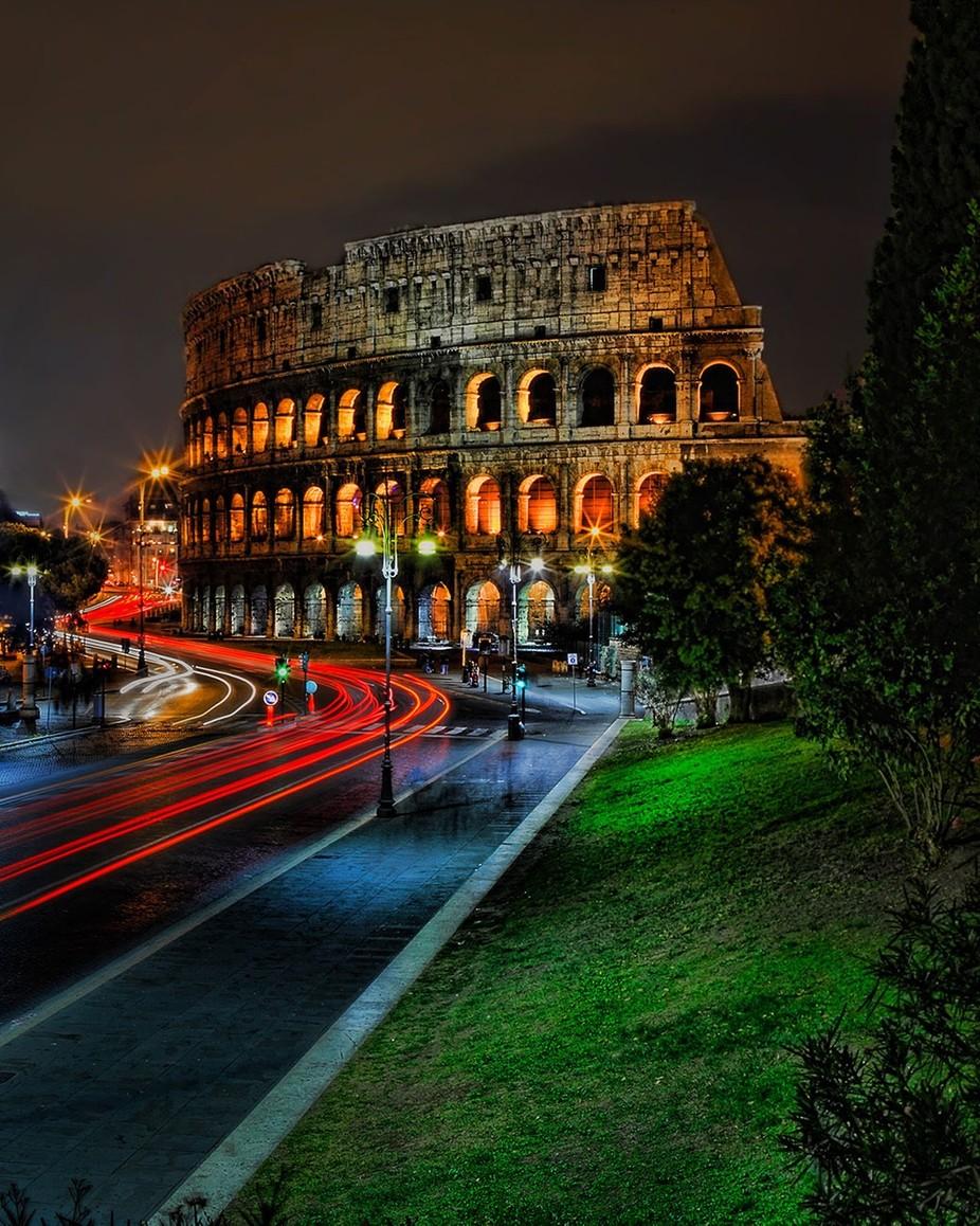 Roman Colosseum by Cucciolo - City In The Night Photo Contest