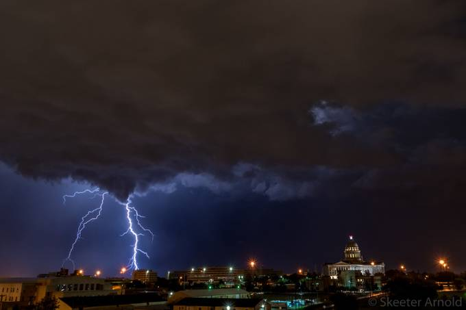 Lightning over the capitol by skeeterarnold - Around the World Photo Contest By Discovery