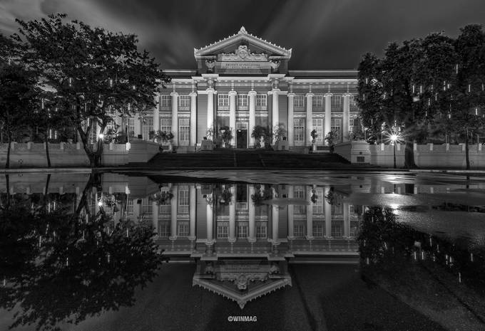 Reflected World by winmagsino - Black And White Architecture Photo Contest
