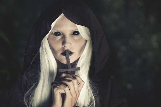 the nun by PoloD - Halloween Photo Contest 2017