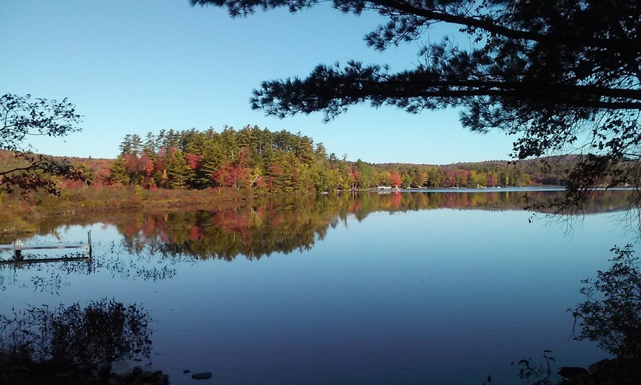 A shot from the western end of Morrill Pond in Hartland Maine.