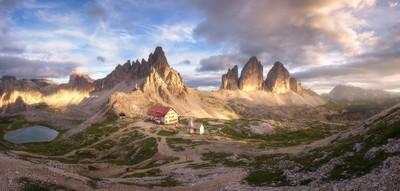 Last Light in the Dolomites